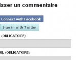 Facebook Connect et Twitter Connect