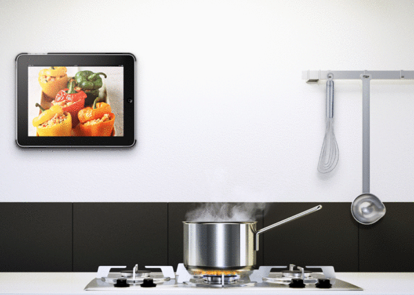 Ringo Support Mural Et De Voiture Design Pour Ipad Et Galaxytab: kitchen design program for ipad