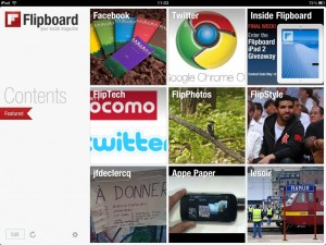 Flipboard sur tablette