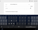 thumb keyboard pour tablettes tactiles