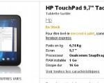 La tablette HP TouchPad disponible en France à partir de 479€