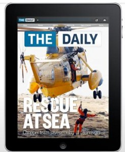 L'application « The Daily » sur iPad