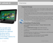 Tablette Dell latitude 10