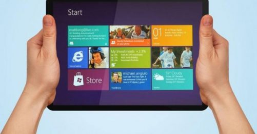 Interface Metro Windows 8