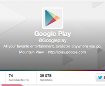 Google Play Store sur Twitter