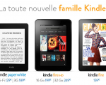 La famille Kindle d'Amazon