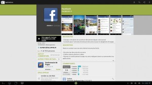 Application Facebook non compatible...