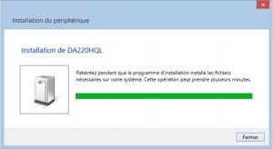 Installation des pilotes Windows 8