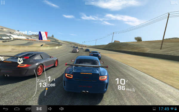 Real racing sur tablette