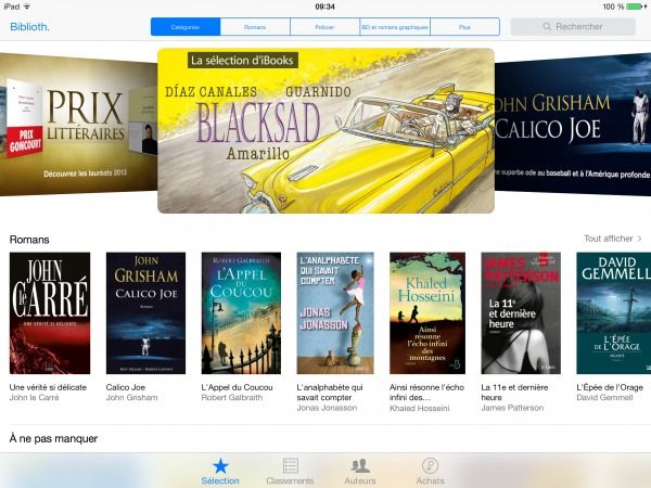 iBooks iOS 7