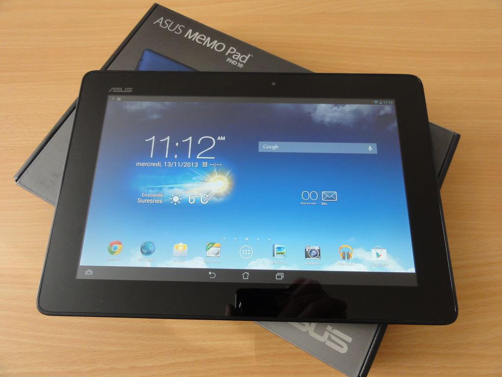 test de l 39 asus memo pad fhd 10 tablette. Black Bedroom Furniture Sets. Home Design Ideas