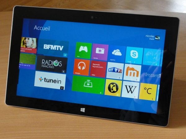 Tablette surface 01net