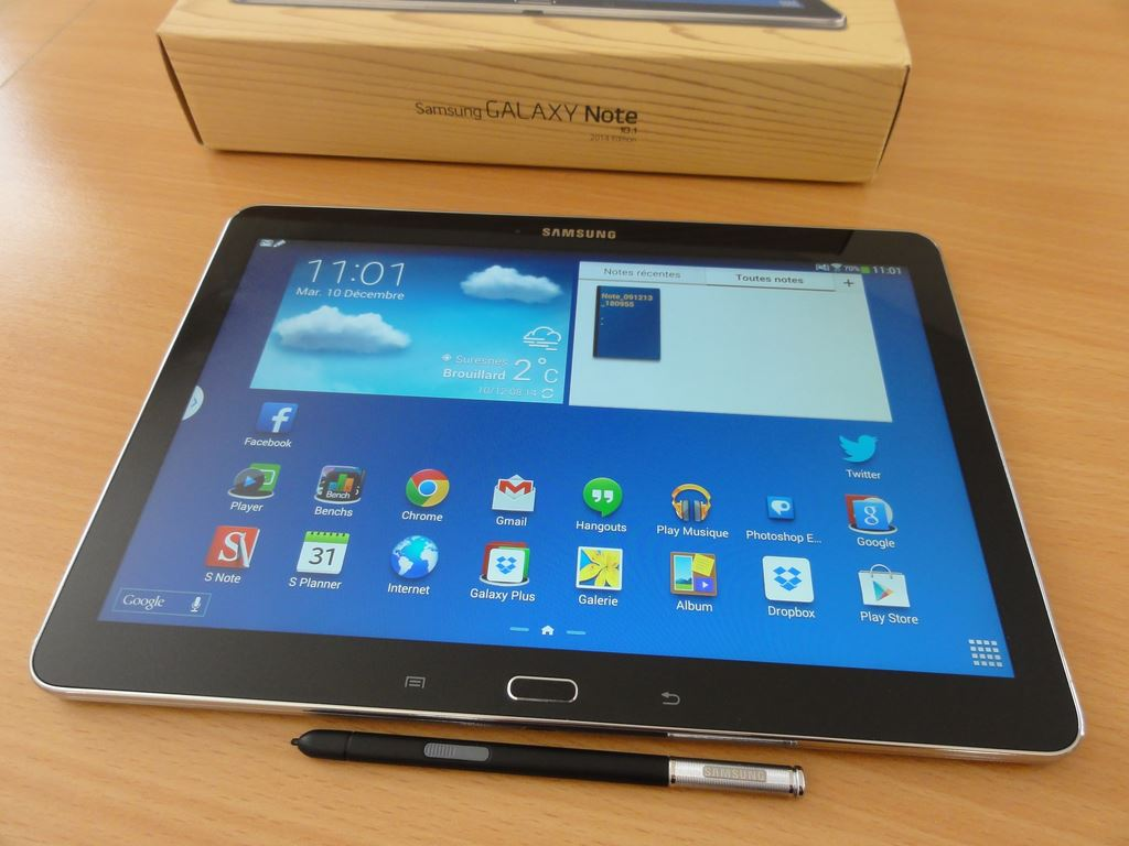 Test De La Samsung Galaxy Note 10 1 Edition 2014 Tablette