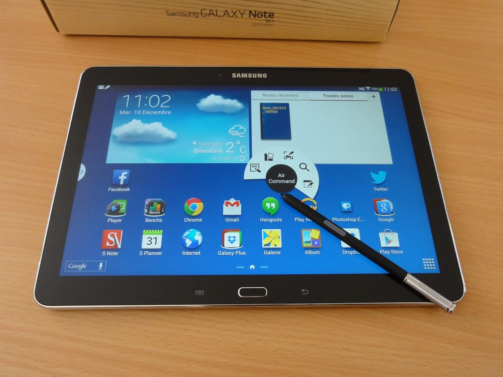 test de la samsung galaxy note 10 1 edition 2014. Black Bedroom Furniture Sets. Home Design Ideas