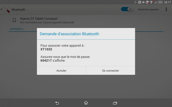 Test du bluetooth