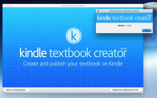Lancement Kindle Textbook Creator