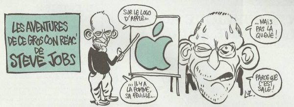 caricature Steve Jobs
