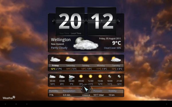Application Android Weather+ App