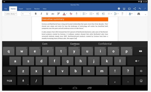 La suite office disponible sur tablette android - Office tablette android gratuit ...