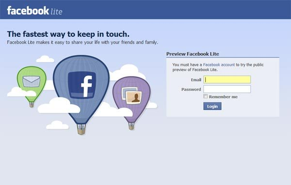 facebook-lite-login