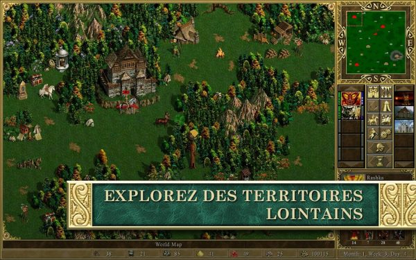 L'exploration dans Heroes of Might and Magic III