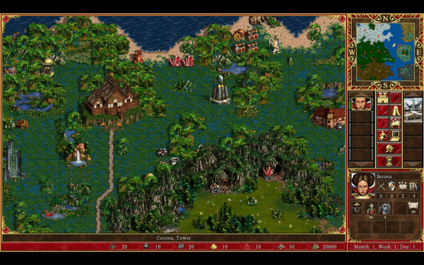 Une partie d'Heroes of Might and Magic III