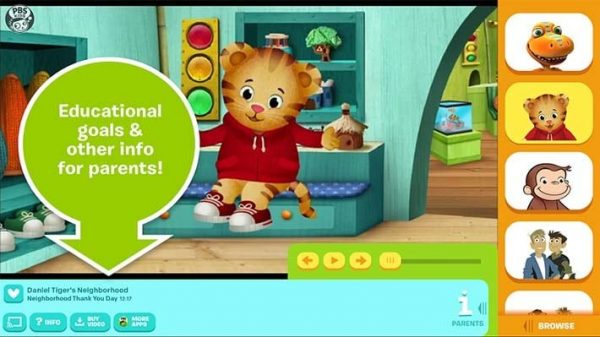 L'application PBS Kids Video