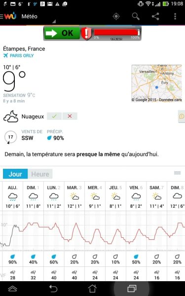 L'application Weather Underground