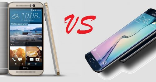 Comparatif htc one m9 contre Samsung Galaxy S6