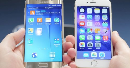 L'iPhone 6 contre le Galaxy S6 Edge