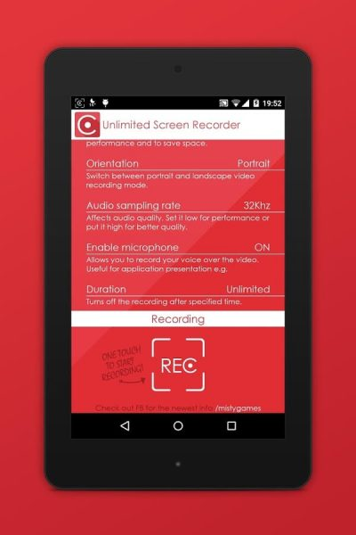 Unlimited Screen Recorder, application de captuure d'écran vidéo pour Android
