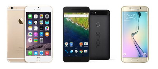 Comparatif iPhone 6 Plus, Nexus 6P & S6 Edge+