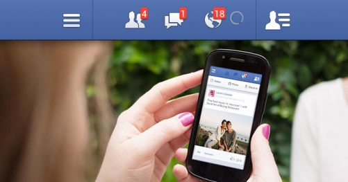 Notification facebook mobile