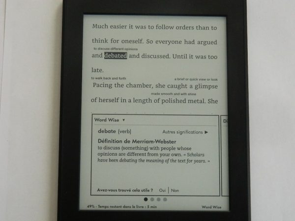 Kindle Paperwhite - Word Wise