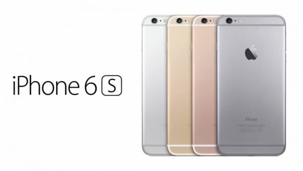 l'iPhone 6S de dos