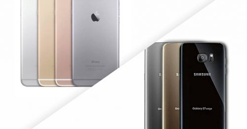 Comparatif entre le Galaxy S7 et l'iPhone 6S