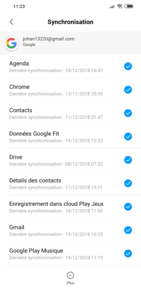 Google Sync Android