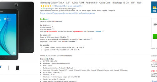 Black Friday Samsung Galaxy Tab A
