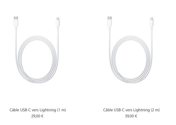 Câble lightning officiel Apple