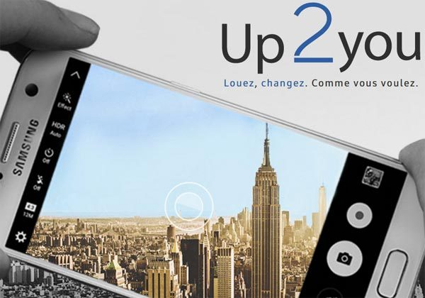 up2you service de location de smartphone Samsung