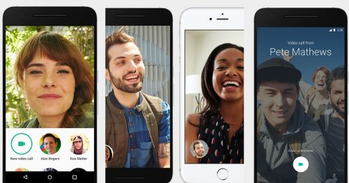 Application Google Duo pour iOS et android