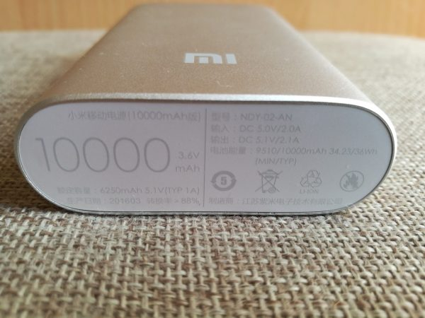 Spécifications techniques de Xiaomi Power Bank