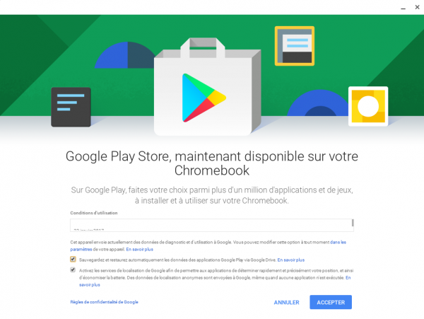 Play Store sur Acer R13