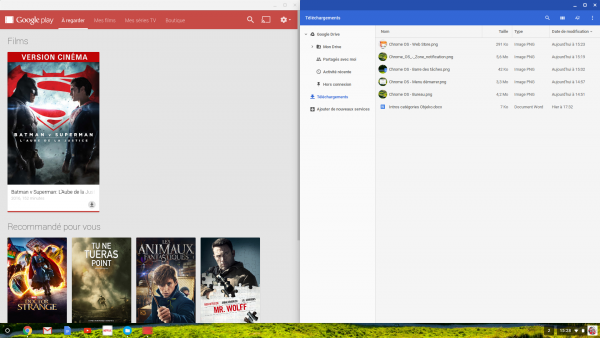 Applications Web sur Chrome OS