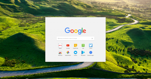 Chrome OS menu des applications