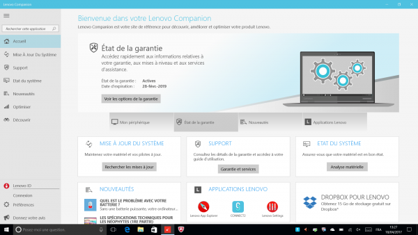 Application Lenovo Companion