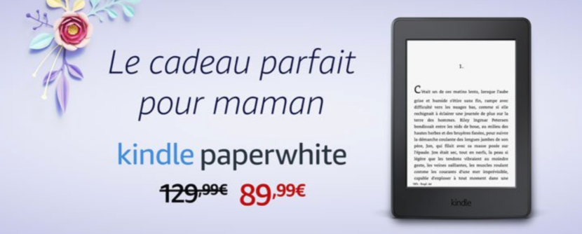 40€ réduction Kindle Paperwhite