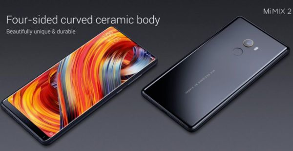 Xiaomi Mi Mix 2 smartphone borderless