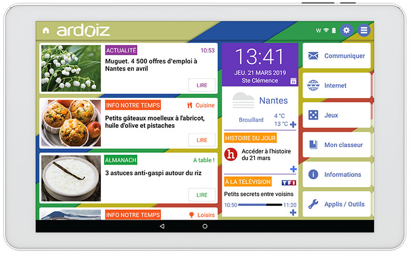 Interface Tablette Ardoiz pour Senior