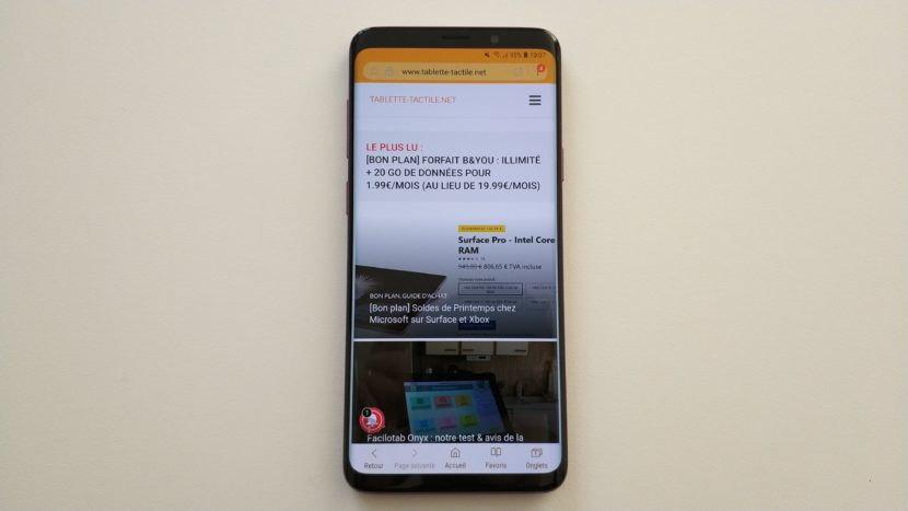 Ecran Super AMOLED Galaxy S9+